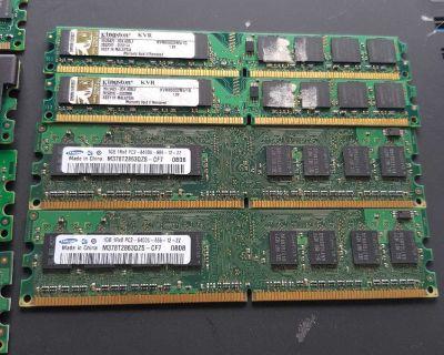 DDR2 Memory 1GB Sticks