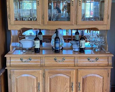 China Hutch with Three Half Doors with Three Drawer Buffet