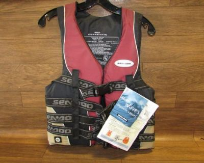 Seadoo Jet Ski Brand New Life Jacket Maroon Adult Small 285-193-0430