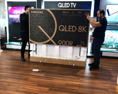 BRAND NEW SAMSUNG QLED 8K 75 INCHES TV