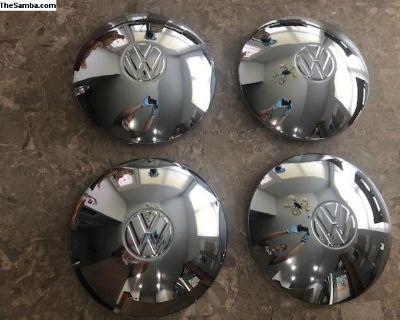 Set of 4 Chromed Hubcap Hub Cap VW Bus Bug Ghia