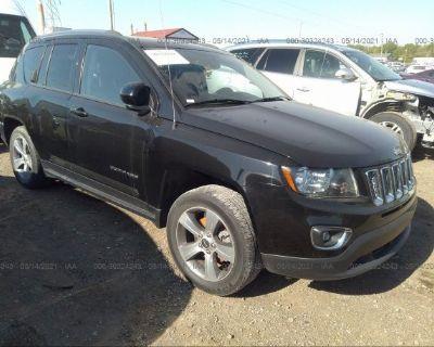 Salvage Black 2017 Jeep Compass