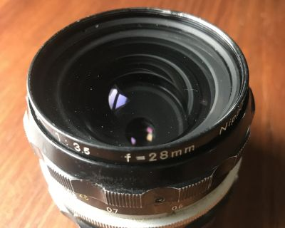 Nikkor-H 28mm F3.5 (N/AI) 50$ shipped