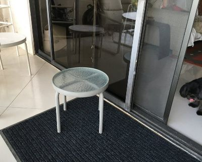 Small Round Glass Outdoor Table