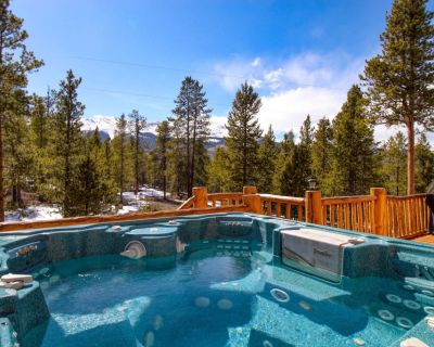 NEW Listing! Log cabin home with Breath Taking Views and hot tub, pets OK! - Twin Lakes