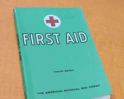 Vintage 1957 first aid book