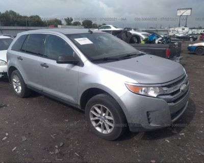 Salvage Silver 2014 Ford Edge