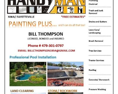 BILL THOMPSON- CONTRACTOR/ HANDYMAN- QUALITY SERVICE- BEST RATES