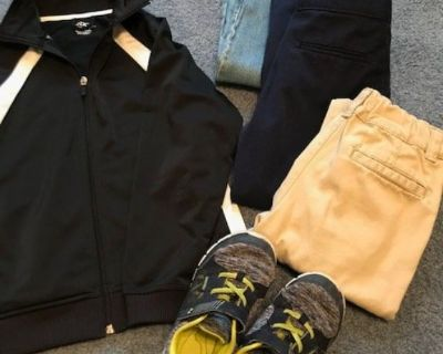 Boys jacket and jeans -shoes