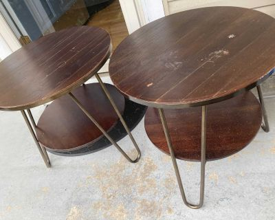 Brown End Tables Great for Family room Large Living Room