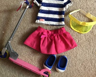 Scooter & Outfit for 18 Dolls (Mapelea/American Girl)