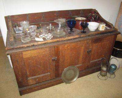 Glen Rock Antiques, Oak Cabinet, Trunk