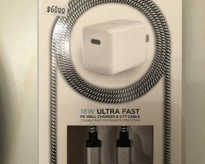 iPhone charger and cable 5feet