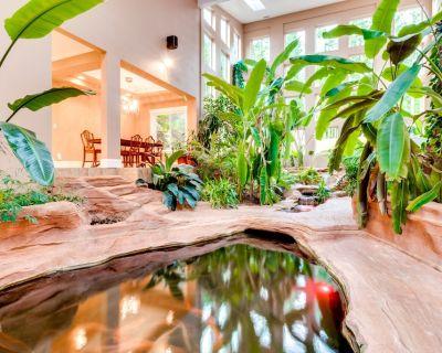 Luxurious Home w/ Mountain Views & Private Hot Tub - Theater & Koi Pond! - Sequim