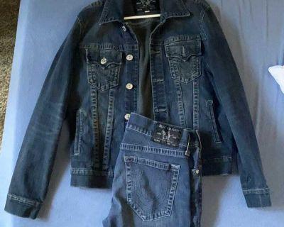 True Religion Denim Jacket & Jeans