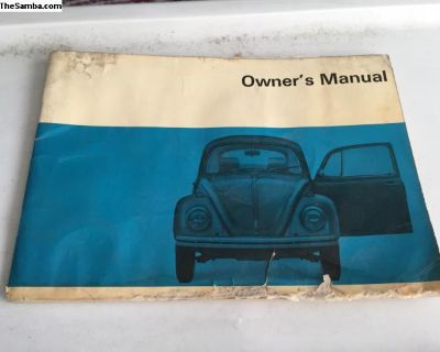 Original 69 & 70 Bug owners manuals