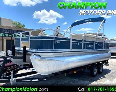 Used 2016 Lowe SF214 21' Sport Fishing Pontoon Boat w/Mercury 115HP 4 S