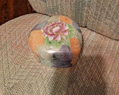 Heart shape with flower ceramic box-$10.00