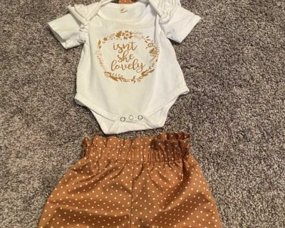 3-6 month girl outfit