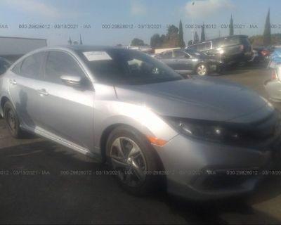 Salvage Silver 2019 Honda Civic Sedan