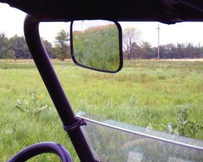 Utv Plastic Rear View / Side View Mirror (8x 4.5) ~new~