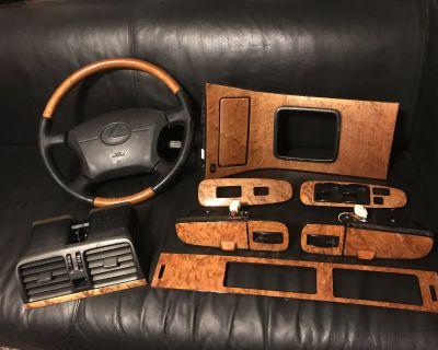 Platinum Edition Birdseye Maple Wood Trim Complete & Black Leather/wood Wheel