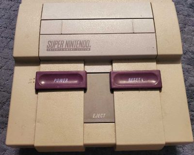 Super Nintendo W/ Two Controllers & Cords