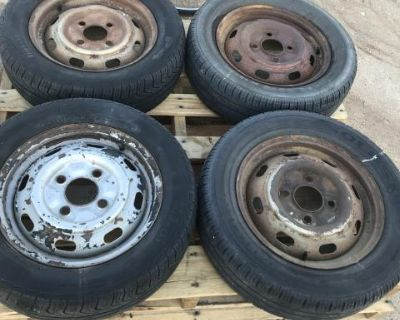 Stock 4 lug rims with tires(good rollers)