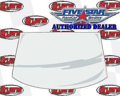 """Five Star Racing Bodies 564-6325-1 Front Windshield 1/8"""" Molded Mar-resistant"""