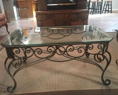 Glass and metal tables