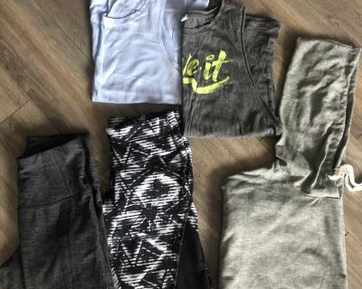 Lot of athletic clothing