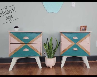 Fun Modern style Night stands /End Tables