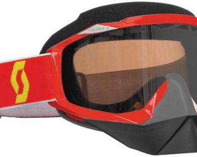Scott Hustle Red Snocross Goggle W/acs Dual Pane Rose Lens Snowmobile Snow Ski