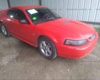 Salvage Red 2000 Ford Mustang
