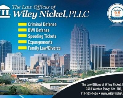 Apex Criminal Defense Lawyer | Law Offices of Wiley Nickel