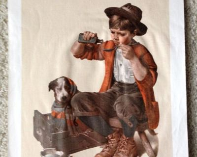 """Norman Rockwell 1973 Print on Canvas """"Practicing Intern"""" - Unframed"""
