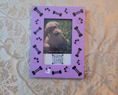Purple Dog Theme Picture Size Frame