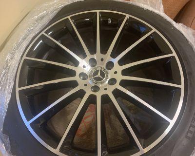 "2020 GLE 21"" New AMG OEM Wheels and Pirelli All Season Tires"