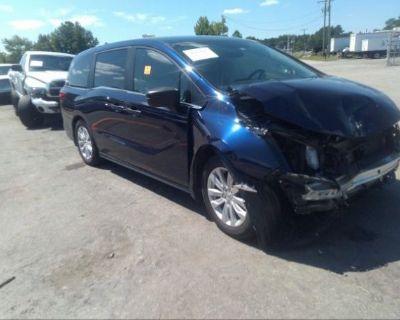Salvage Blue 2019 Honda Odyssey