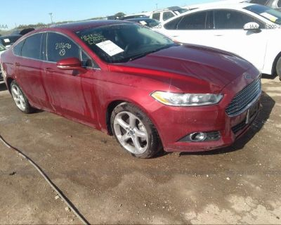 Salvage Red 2016 Ford Fusion