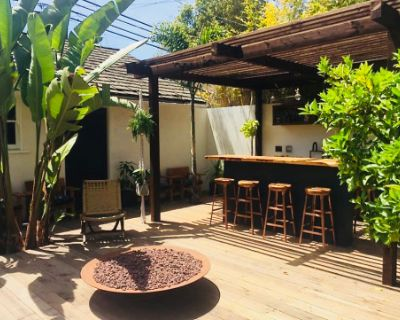 Chez Lister; A Mid century home and yard with fire pits, spa and bar located on the Westside., Los Angeles, CA