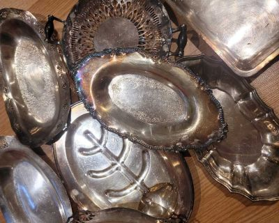 Lot of silver plates