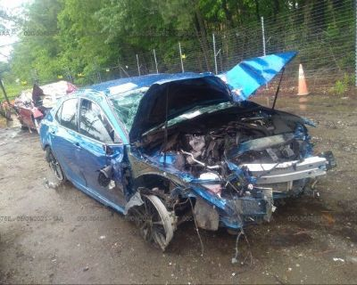 Salvage Blue 2019 Toyota Camry