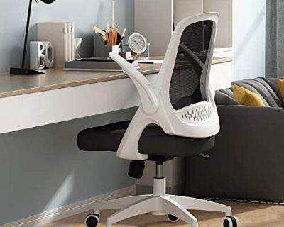 Hbada Office Desk Chair - No Assembly Required - Black & White - New!