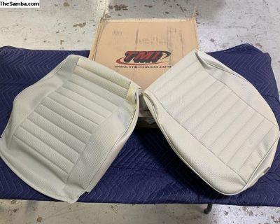 Bus Seat Upholstery Off White Basketweave Vinyl