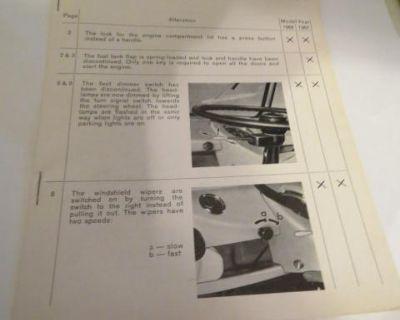Rare October 1964 Bus Owners Manual Insert