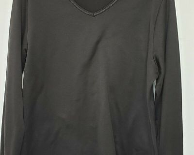 FRUIT OF THE LOOM LING SLEEVE V-NECK T-SHIRT TOP * SIZE XL