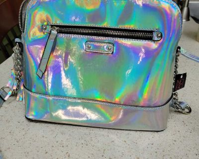 Brand new w/ tag Silver purse, with shimmer