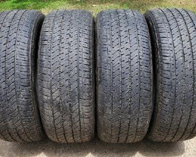 """Tires, 4 20"""" Bridgestone Alenza A/S 02 275/55/R20 OEM GMC Chevy Cadillac Trucks SUV..."""