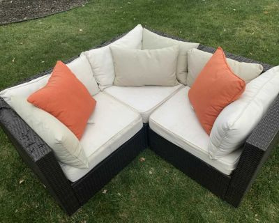 3 piece patio sectional
